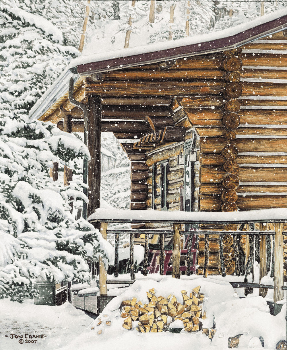 SNOW DAY by Jon Crane -- Fine Art Watercolors