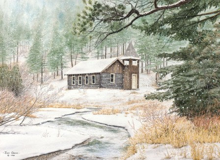 SNOWY SANCTUARY by Jon Crane -- Fine Art Watercolors