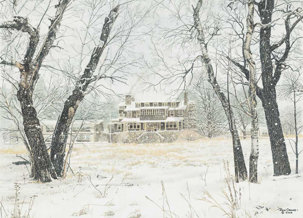 STATE GAME LODGE by Jon Crane -- Fine Art Watercolors