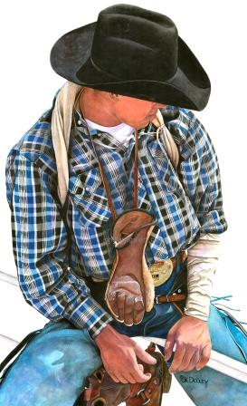 THE KID by JK Dooley---Cowboy Art/Watercolor/Original