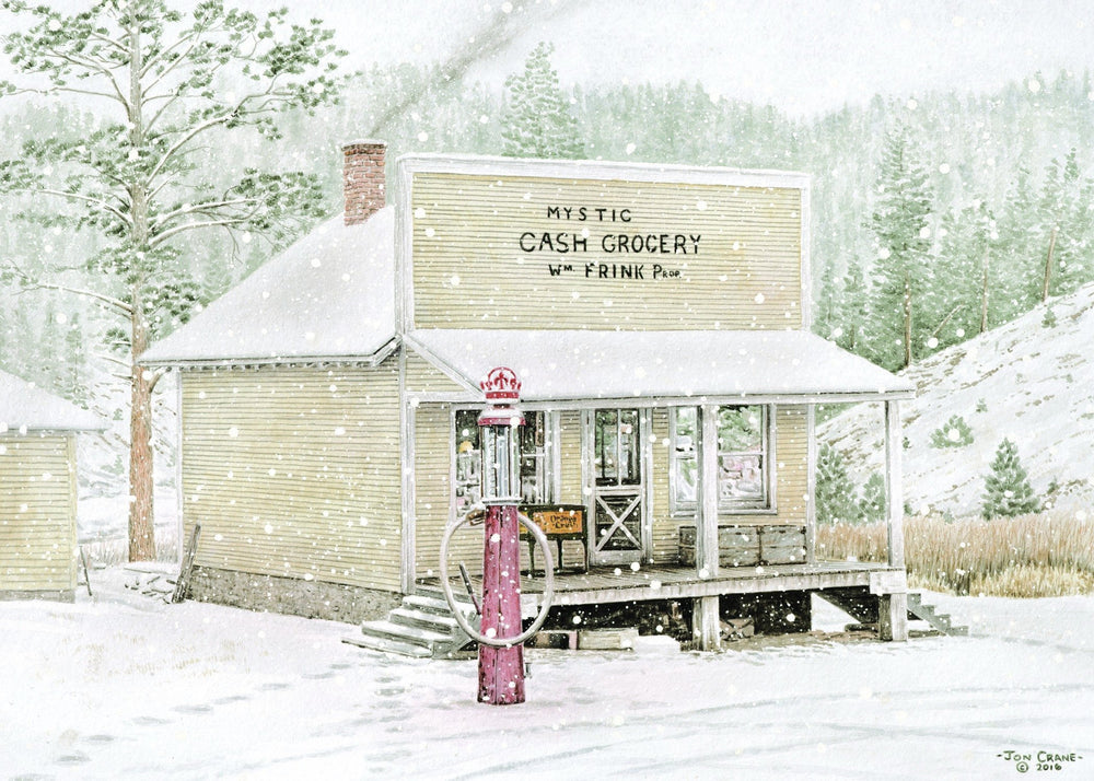 UNCLE BILL'S STORE by Jon Crane -- Fine Art Watercolors
