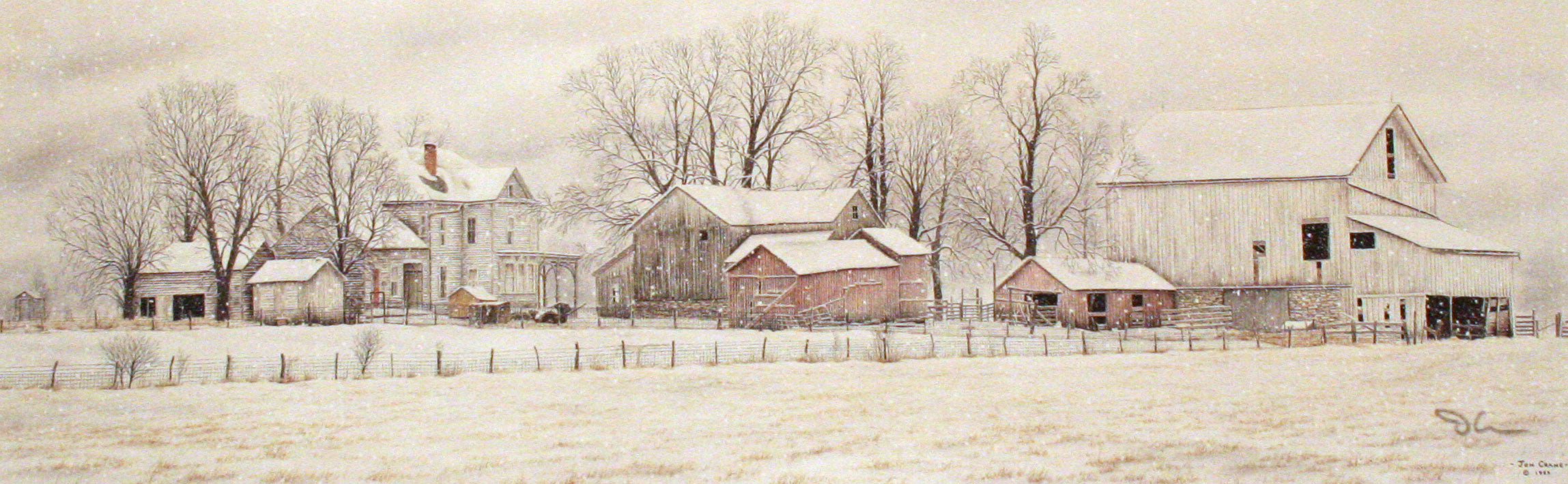 WINTER IN THE HEARTLAND by Jon Crane -- Fine Art Watercolors