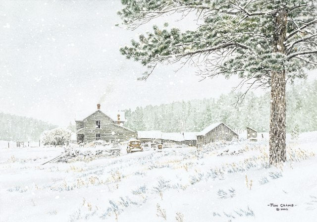 WINTER SAGE by Jon Crane -- Fine Art Watercolors
