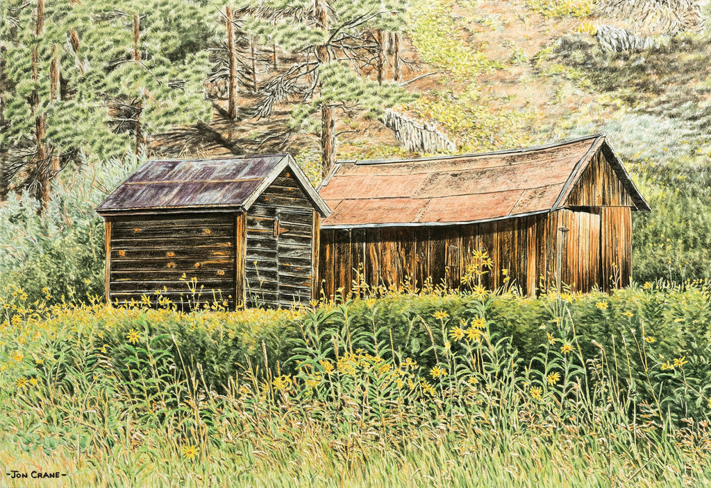 WEATHERED COMPANIONS by Jon Crane -- Fine Art Watercolors