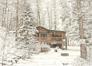 WELCOME TO THE BLACK HILLS - RESUME NORMAL BREATHING by Jon Crane -- Fine Art Watercolors