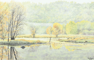 AUTUMN MIST by Jon Crane -- Fine Art Watercolors