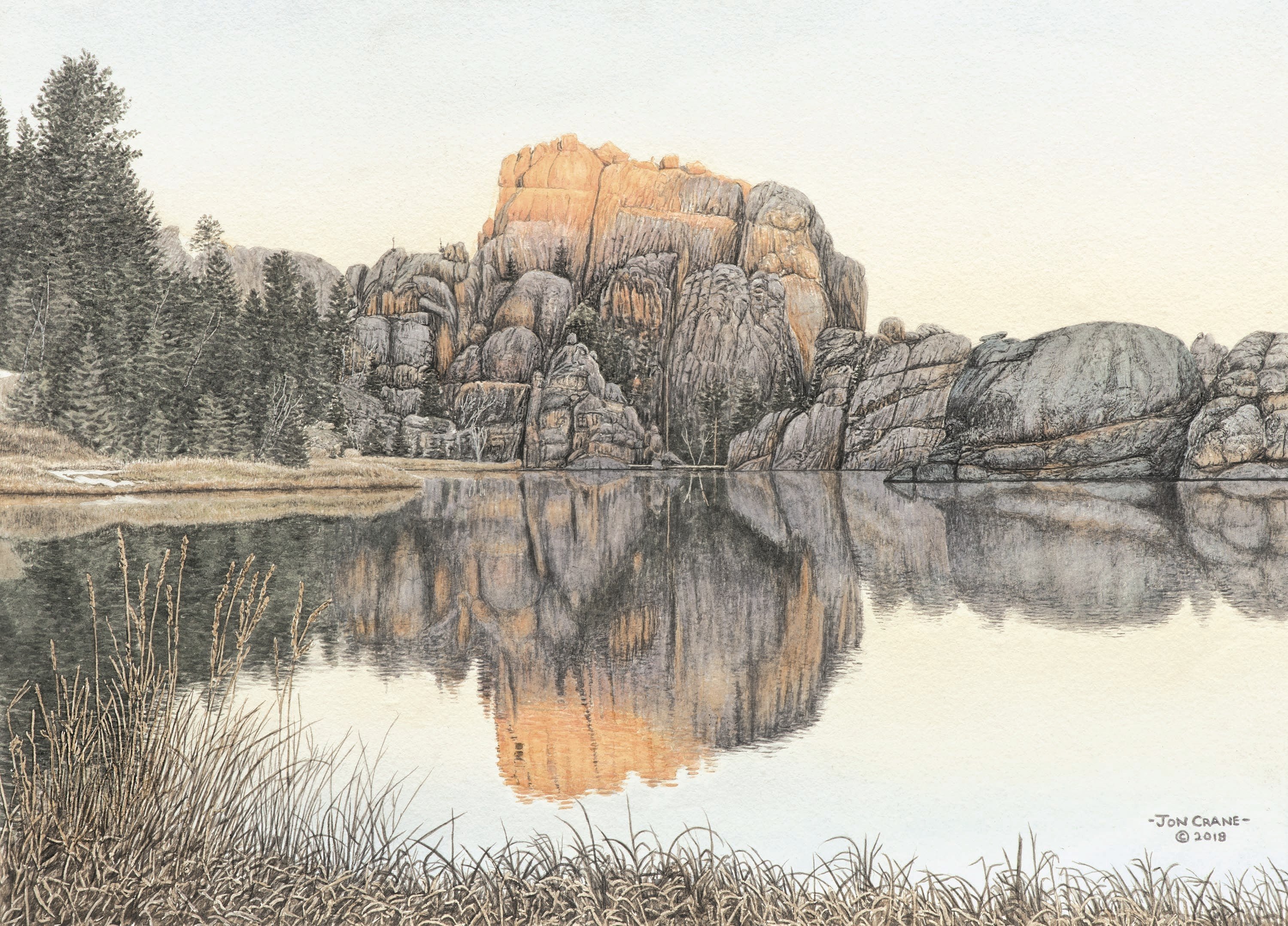 SYLVAN SUNRISE by Jon Crane -- Fine Art Watercolors