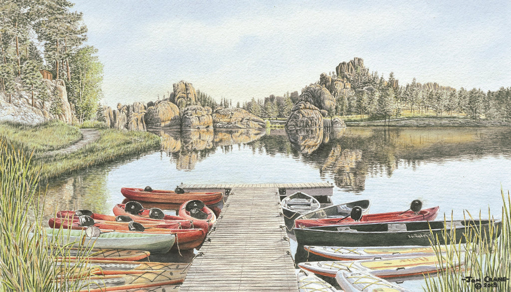 SYLVAN LAKE YACHT CLUB by Jon Crane -- Fine Art Watercolors