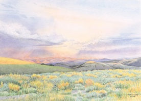STORM ON THE GREAT DIVIDE by Jon Crane -- Fine Art Watercolors