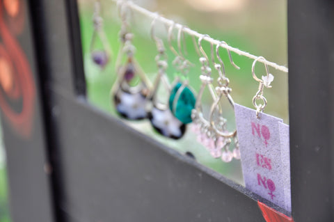 Earrings with a message