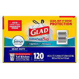 Glad ForceFlex OdorShield Tall Kitchen Drawstring Trash Bags, Fresh Clean (13 gallons)