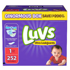Luvs Ultra Leakguards Diapers (Size 1 or 2)