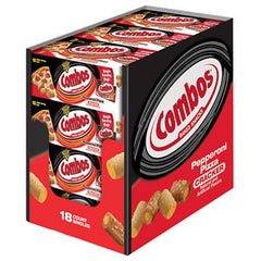 Combos Pepperoni Pizza Cracker Singles Carton - 18 pk.