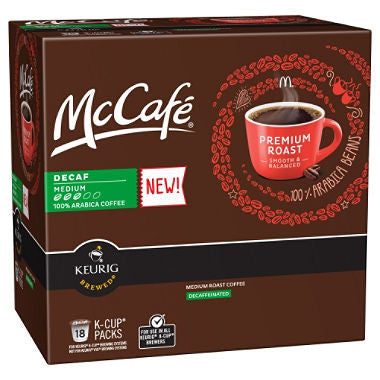 McCafe Premium Roast, Medium, Decaffeinated K-Cups (108 ct.)