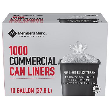 Member's Mark 7-10 Gallon Commercial Trash Bags (1000 ct.)