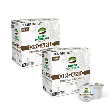 Green Mountain Coffee Organic, Ethiopia Yirgacheffe, K-Cup Pods (160 ct.)
