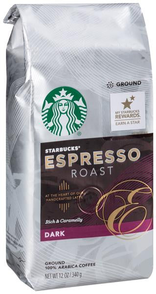 Starbucks® Espresso Roast Rich & Caramelly Dark Coffee Ground 12 oz.