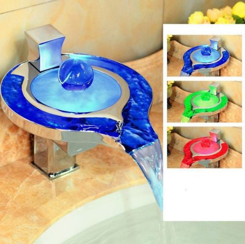 LED Sink Waterfall Faucet A026