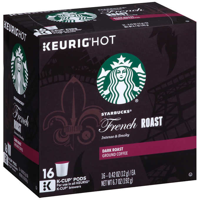 Starbucks French Roast Coffee 128 K-Cup Pods (8 x 16 cnt packs)