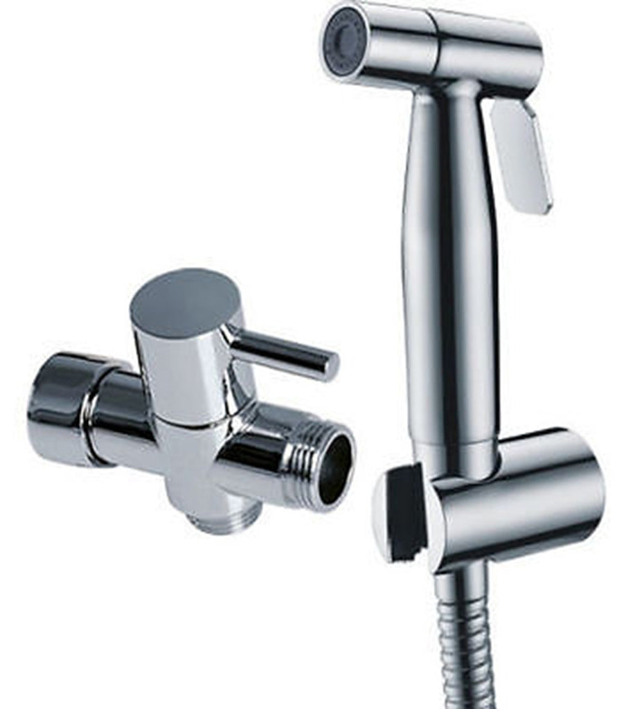 Stainless Steel or Brushed Nickel Bidet Set Handle Sprayer Toilet Shattaf 7/8""