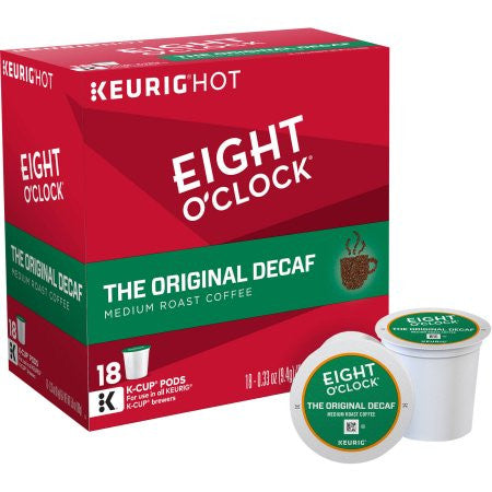 Eight O'Clock Original Decaf Coffee K-Cups, 18 count, 5.9 oz
