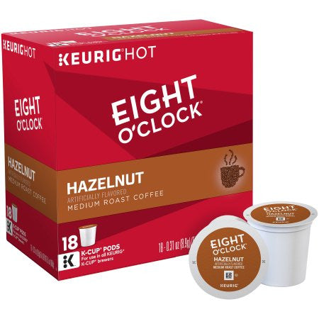 Eight O'Clock Hazelnut Medium Roast K-Cups Coffee, 18 count