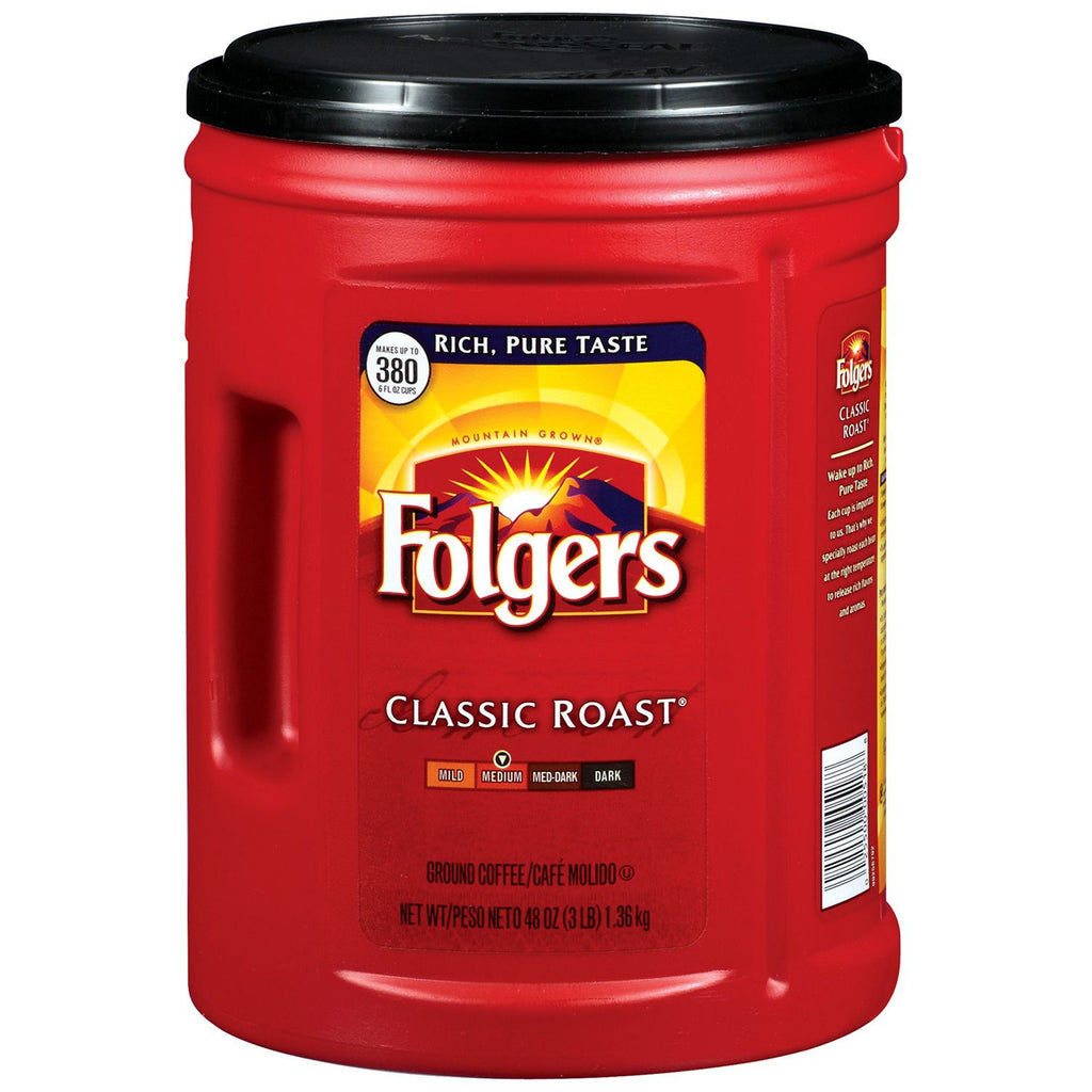 Folgers Classic Roast Ground Coffee (48 oz.)