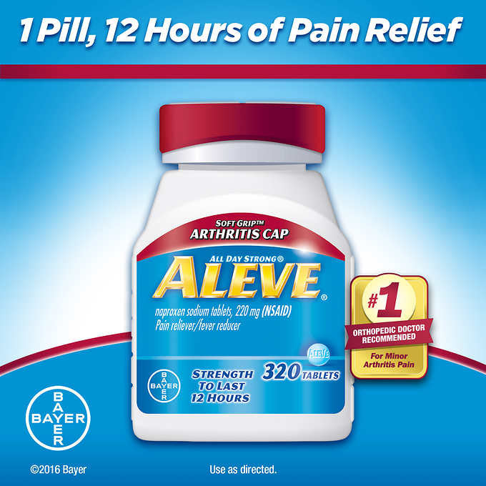 Aleve Soft Grip Arthritis Pain Reliever, 320 Tablets