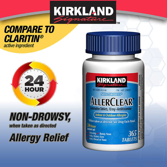 Kirkland Signature AllerClear, 365 Tablets
