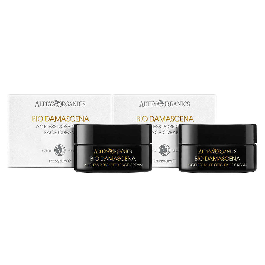 Alteya Organics Ageless Rose Otto Face Cream 'BioDamascena' 2-pack