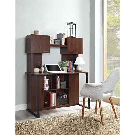 Altra Contemporary Desk with Hutch, Cherry