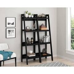 Altra Metal Ladder Bookcase, Set of 2, Black