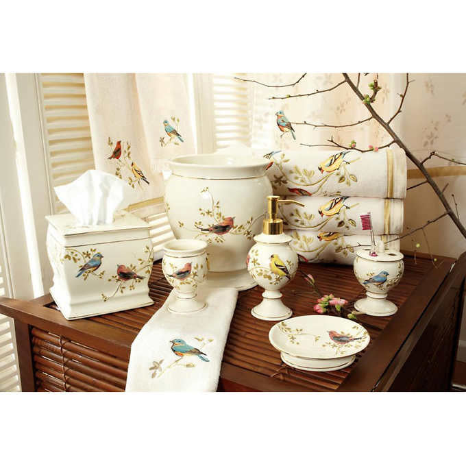 Avanti Linens Luxurious Birds Bathroom Set