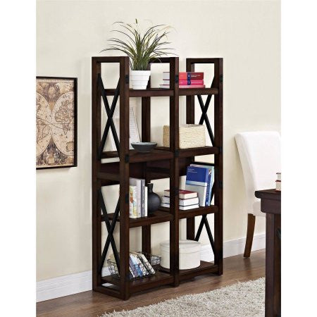 Better Homes and Gardens Preston Park Bookcase/Room Divider, Mahogany