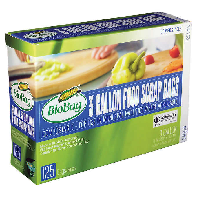BioBag Compostable 3 Gallon Food Scraps Bag 125 Count