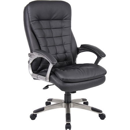 Boss Executive CaressoftPlus Pillow Top Chair with Padded Armrests