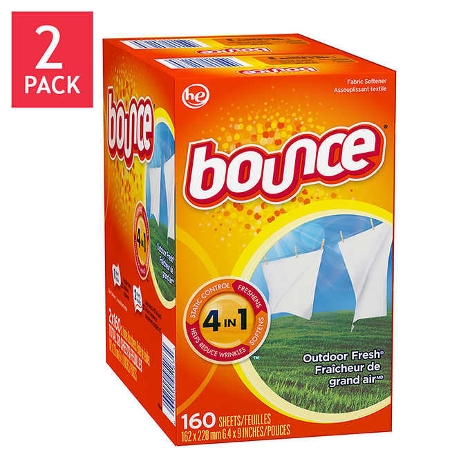 Bounce Dryer Sheets Outdoor Fresh 320-count