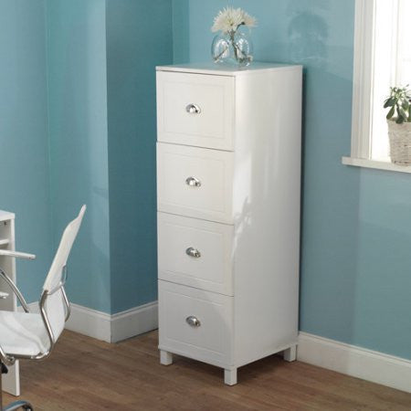 Bradley 4-Drawer Filing Cabinet, Multiple colors