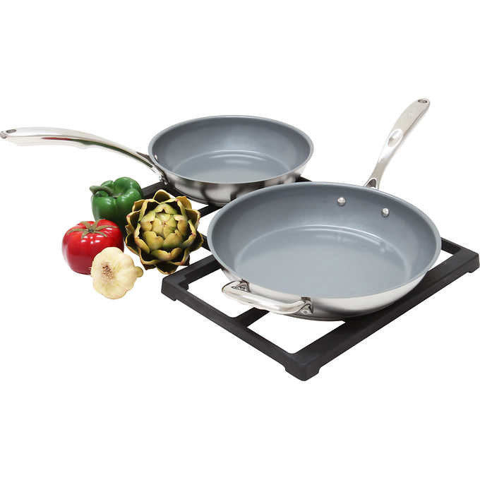 Chantal® 2-Piece Induction 21 Steel™ Ceramic Coated Fry Pan Set