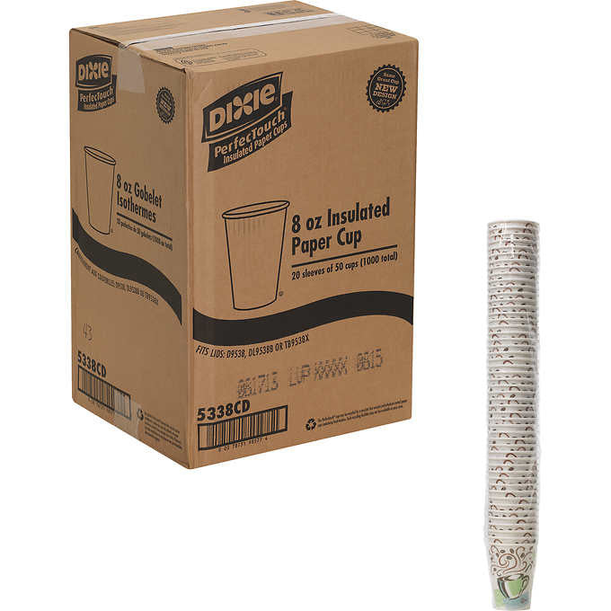 Dixie PerfecTouch Hot Drink Cup 8oz 1,000ct DXE 5338CD