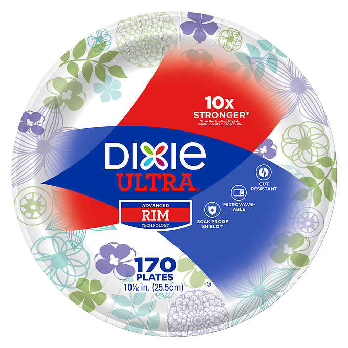 "Dixie Ultra Paper Plate 10-1/16"" 170ct"