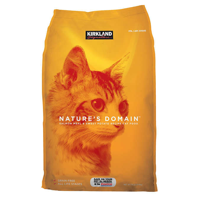 Kirkland Signature Nature's Domain Cat Food 18 lb Bag