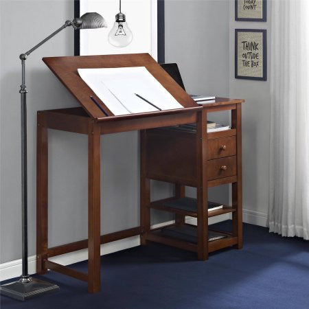 Dorel Living Drafting and Craft Desk, Espresso