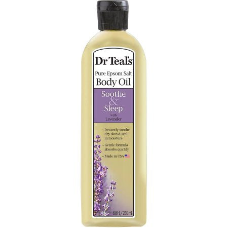 Dr. Teal's Soothe & Sleep with Lavender Body and Bath Oil, 8.8 fl oz
