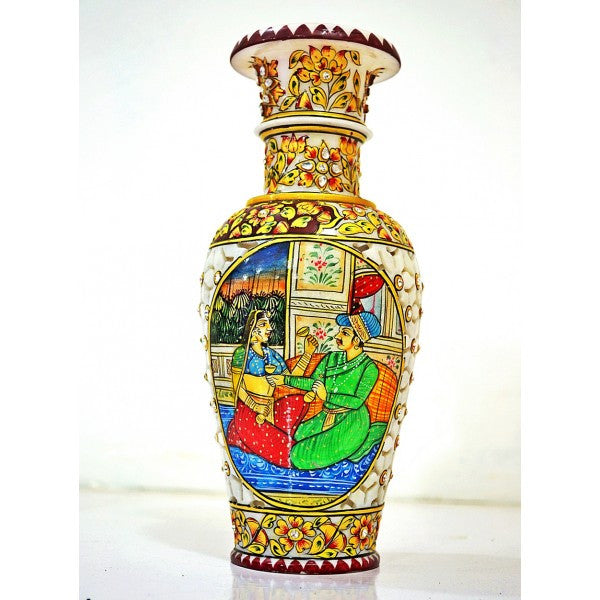 Jaipur Indian Marble Flower Vase