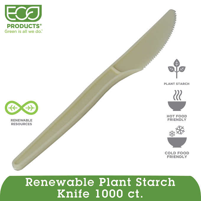 Eco-Products Renewable Plant Starch Knife 1,000ct