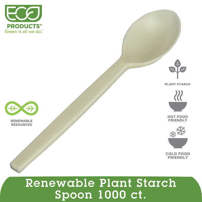 Eco-Products Renewable Plant Starch Spoon 1,000ct