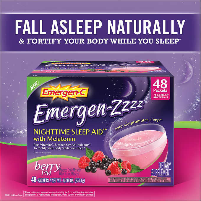 Emergen-Zzzz Nighttime Sleep Aid, 48 Packets