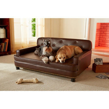 Enchanted Home Pet Pebble Brown Library Pet Sofa