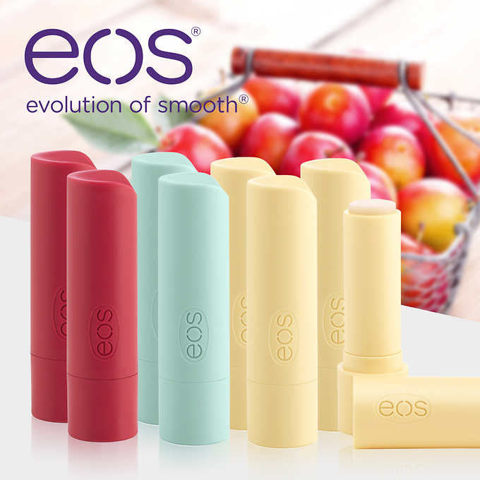 eos Organic Smooth Lip Balm, 8 Stick Pack